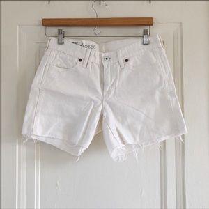 Madewell White Denim Jean Shorts Size 26
